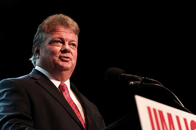 Democratic nominee for Mississippi governor Jim Hood gave an election night victory speech in Jackson on Aug. 6, 2019. Photo by Ashton Pittman