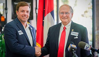 On Tuesday, Mississippi House Rep. Robert Foster, a former 2019 GOP candidate for governor, endorsed former Mississippi Supreme Court Chief Justice Bill Waller for governor in the Republican primary runoff. Photo courtesy Bill Waller for Governor
