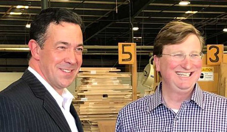 Mississippi Sen. Chris McDaniel (left) endorsed Lt. Gov. Tate Reeves (right) in the party's runoff for governor on Thursday despite long-standing differences. Photo courtesy Tate Reeves' Twitter