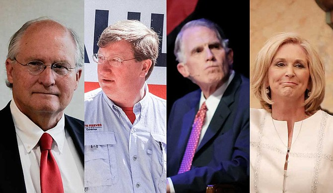 (Left to right) Bill Waller Jr., Tate Reeves, Andy Taggart and Lynn Fitch Photos by Ashton Pittman