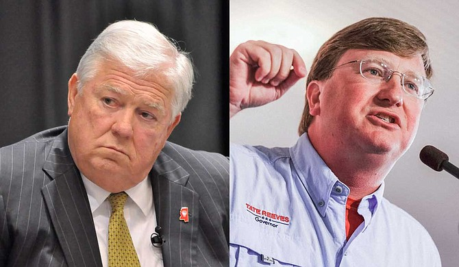 Former Mississippi Gov. Haley Barbour (left) said Tuesday that he is supporting Tate Reeves (right) for the Republican nomination for governor. Photos by Trip Burns/Ashton Pittman