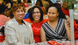 Leshundra Young (right) poses for a photo with mother Mattie Porter (left) and sister Rev. Cassandry Redmond-Keys (center). Photo courtesy Leshundra Young