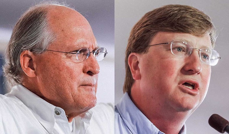 Former Mississippi Supreme Court Chief Justice Bill Waller Jr. (left) and Lt. Gov. Tate Reeves (right) have raised large sums from PACs, corporations and wealthy individuals during the Republican primary runoff for governor. Photos by Ashton Pittman