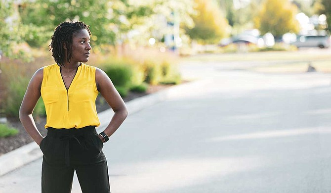 Amber Johnson is the first African American woman to receive a Ph.D. in computer science from Purdue University, which has one of the most respected programs in the United States. Photo by oyinolu