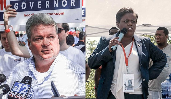 Jennifer Riley Collins (right), the Democratic candidate for Mississippi attorney general, criticized her party's nominee for governor, Jim Hood (left), for his decision not to endorse her or any of his fellow Democrats in the 2019 statewide races. Photo by Ashton Pittman