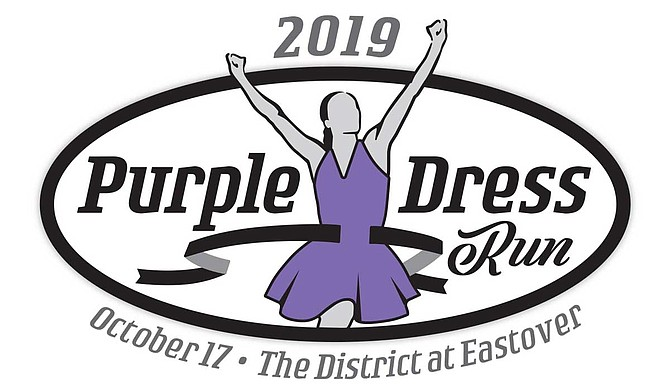 Catholic Charities will host the 8th-annual Purple Dress Run starting at 6 p.m. on Thursday, Oct. 17, at The District at Eastover in honor of National Domestic Violence Awareness month. Photo courtesy Catholic Charities