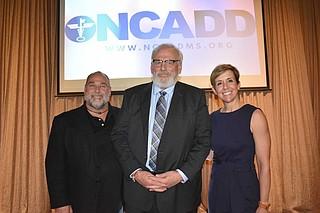 (left to right) Robert St. John, Tom Kepner, Nelle Cohen Photo by Natasha Carter
