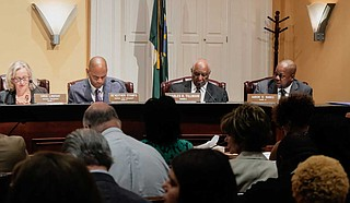 Jackson Ward 6 City Councilman Aaron B. Banks was the lone opponent of a $7-million plan for tackling issues with the city's water system at the Sept. 27 special meeting. Photo by Ashton Pittman.
