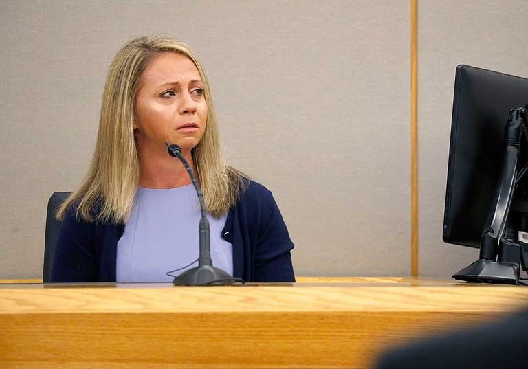 A jury reached the verdict in Amber Guyger's (pictured) high-profile trial for the killing of Botham Jean after six days of witness testimony but just a handful of hours of deliberation. Photo by Tom Fox/The Dallas Morning News via AP