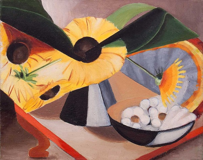 "Dusti Bongé's ""Sunflowers,"" 1944 Oil on canvas, 16"" x 20"" Photo courtesy Dusti Bongé Art Foundation"