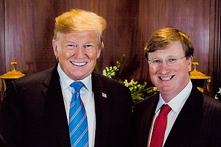 President Donald Trump poses for a photo with Mississippi Lt. Gov. Tate Reeves, an ardent supporter Trump endorsed on Oct. 2 in the race for Mississippi governor. Photo courtesy Tate Reeves Facebook