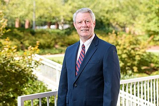 New University of Mississippi Chancellor Glenn Boyce took the reins amid swirling clouds of controversy among students, faculty and alumni. Photo by Kevin Bain/Ole Miss Digital Imaging Services