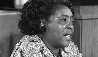 Fannie Lou Hamer, a women's rights activist and co-founder of the Freedom Democratic Party, died of untreated breast cancer on March 14, 1977. Photo courtesy Warren K. Leffler/U.S. News & World Report Magazine