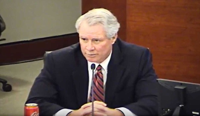 Glenn Boyce addresses a public session of the IHL Board of Trustees. Photo courtesy Mississippi Institutions of Higher Learning
