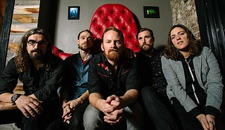 From left: Fruition is Jeff Leonard (bass), Tyler Thompson (drums), Jay Cobb Anderson (guitar/vocals), Kellen Asebroek (acoustic guitar, keys, vocals) and Mimi Naja (mandolin, guitars, vocals). Photo courtesy Dustin Chambers