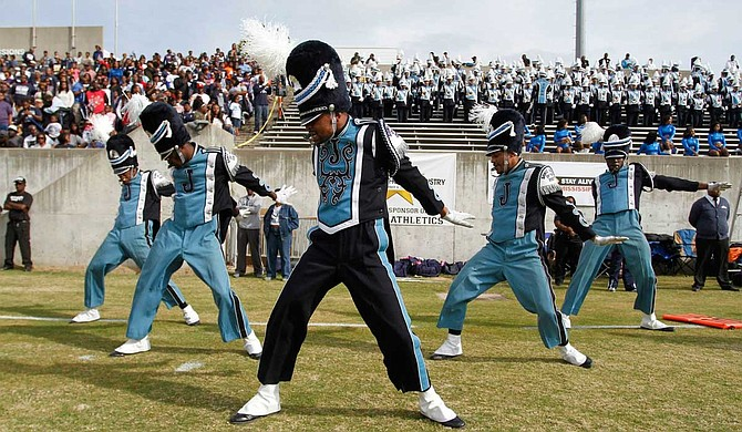 Jackson State University's Sonic Boom of the South Marching Band is one of eight bands competing in the Honda Battle of the Bands, making its ninth appearance at the event. Photo courtesy JSU