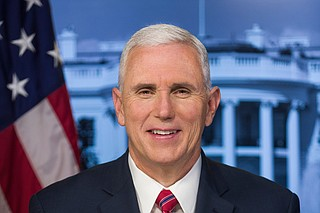 Vice President Mike Pence campaigned Monday in Mississippi for the Republican nominee for governor, who's in a tight race with the state's best-funded Democratic nominee in nearly a generation. Official White House Portrait