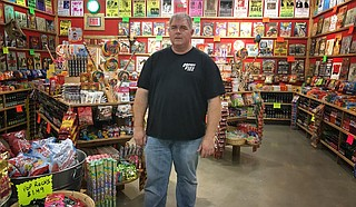 Shreveport, La., native Richard Morris (pictured) brought Rocket Fizz, a California-based specialty soda and candy franchise, to Mississippi with the opening of a new store at the Outlets of Mississippi on Wednesday, Nov. 6. Photo by Dustin Cardon