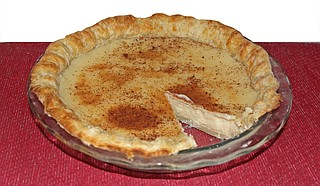 Sugar Cream Pie makes for a sweet treat for the fall or holiday season. Photo by Nate Schumann