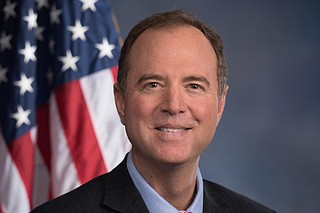 "Rep. Adam Schiff (pictured) introduced the notion of bribery into the debate when he criticized the acting White House chief of staff, Mick Mulvaney, for saying that people concerned about Trump's requests that Ukraine do political investigations should ""get over it,"" and that there is political influence in all foreign policy. Photo courtesy U.S. House of Representatives"