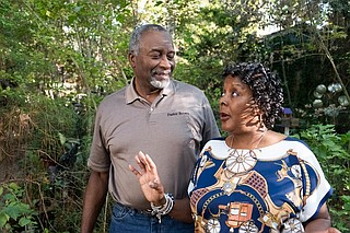 Herbert and Stephany Brown may bring back Alta Woods' neighborhood association now that they are retired. Photo by Seyma Bayram