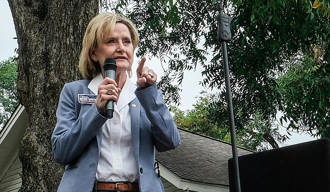 U.S. Sen. Cindy Hyde-Smith, R-Miss, blocked a universal background-checks bill on Thursday morning around the same time a 16-year-old high school student shot five classmates in Santa Clarita, Calif., killing two. Photo by Ashton Pittman