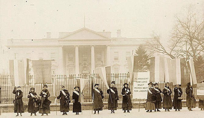 """Votes for Women! A Centennial Celebration of the Women's Suffrage Movement in America"" includes 11 poster-sized panels depicting the movement's history with a focus on Mississippi, a release from MSU says. Photo courtesy Library of Congress, Prints and Photographs Division"