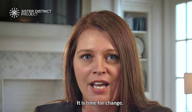 The California-based Sister District helped Democrat Shanda Yates defeat incumbent Republican Bill Denny with strategic advice, organizing efforts, text messages, and more. The group also filmed a video to promote Yates' candidacy. Photo courtesy Sister District