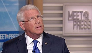 """U.S. Sen. Roger Wicker, R-Miss., claimed he saw """"no proof"""" of Trump's wrongdoing and suggested Ukraine may have interfered in the 2016 election, echoing a Russian propaganda campaign to shift blame for its own efforts to help Donald Trump and hurt Hillary Clinton in the 2016 election. Photo courtesy Meet the Press/NBC News"""
