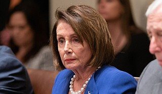 """House Speaker Nancy Pelosi released a statement calling Jackson's decision """"yet another resounding ruling that the Administration's claim of 'absolute immunity' from Congress's subpoenas has no basis in the law or our democracy, and must immediately cease."""" Official White House Photo by Shealah Craighead"""