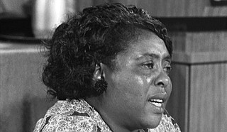"Fannie Lou Hamer was a Mississippian who decided she was ""tired of being sick and tired"" of the power structures and racism in Mississippi. Photo courtesy Warren K. Leffler/U.S. News & World Report Magazine"