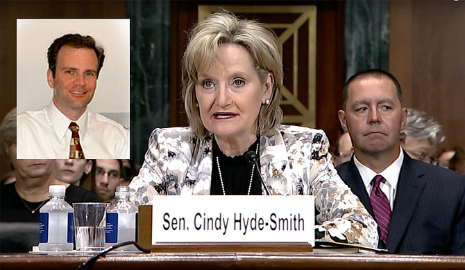 "U.S. Sen. Cindy Hyde-Smith vouched for Trump 5th U.S. Circuit Court of Appeals pick Halil Suleyman ""Sul"" Ozerden at hearings in July. Hyde-Smith screencap courtesy Sen. Roger Wicker. Ozerden photo courtesy U.S. District Court for the Southern District of Mississippi."