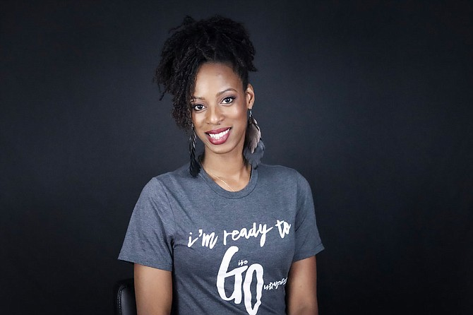 Ebony Jones, founder and executive director of Give Outrageously, works on initiatives to help members of the greater Jackson community. Courtesy Ebony Jones.