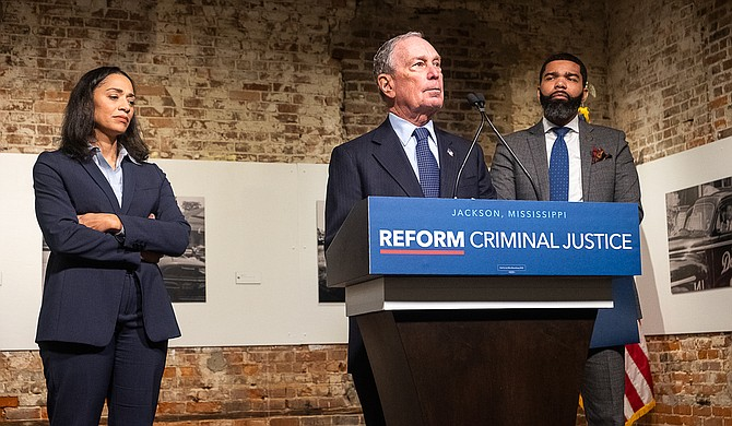 On Nov. 3, Democratic presidential hopeful Mike Bloomberg met with Jackson Mayor Chokwe A. Lumumba and community leaders to discuss criminal-justice reform. Following the closed-door meeting, Bloomberg unveiled his criminal justice reform agenda. Photo by Seyma Bayram.