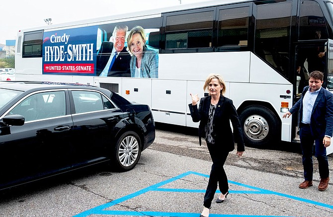 "U.S. Sen. Cindy Hyde-Smith vowed to ""stand up for"" President Donald Trump in his likely Senate trial on charges of obstruction of justice and abuse of power. The Republican senator's 2018 campaign message centered on her pro-Trump voting record and her pledge to support him. Photo by Ashton Pittman"
