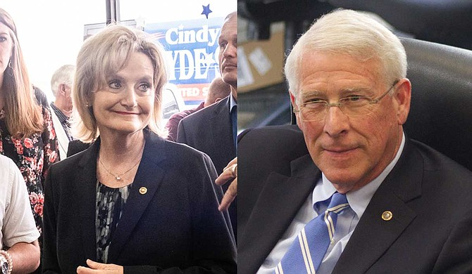"""U.S. Sens. Cindy Hyde-Smith, (left), and Roger Wicker (right) joined other Republican lawmakers in a Jan. 2 filing that asked the U.S. Supreme Court to """"reconsider"""" and possibly """"overrule"""" prior cases that protect abortion rights. Photos by Ashton Pittman and Stephen Wilson"""