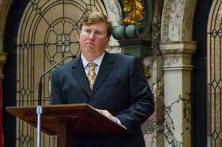 Republican Tate Reeves is completing his second term as lieutenant governor, and he is presiding over the Senate on Tuesday and Wednesday. Photo by Stephen Wilson