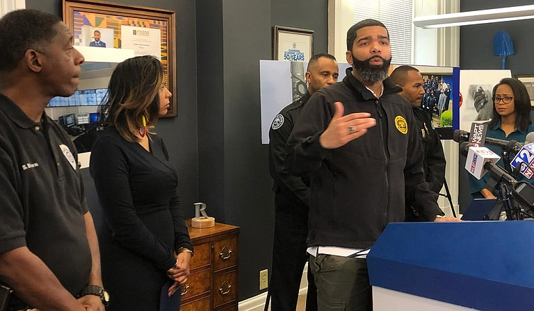 Ending violence in Jackson requires structural solutions that also address poverty and lax gun laws, Mayor Chokwe A. Lumumba said during a press conference on Jan. 10. Photo by Seyma Bayram