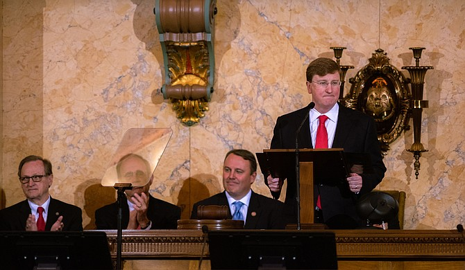The inauguration of Tate Reeves as governor of Mississippi took place at the Capitol building on Tuesday. In a speech, the new governor vowed to stand for all Mississippians. Photo by Drew Dempsey