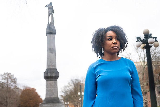 "UM senior and Rhodes scholar Arielle Hudson calls the latest delay of moving the Confederate monument from the heart of the University of Mississippi campus a ""setback."" The Institutions of Higher Learning Board hurriedly pulled a final vote on the relocation on Thursday, Jan. 17. Photo by Seyma Bayram"