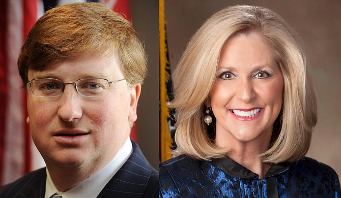 Mississippi Gov. Tate Reeves (left) and Attorney General Lynn Fitch (right) could appeal the decision that struck down the state's 15-week abortion ban to the U.S. Supreme Court. Official Photo courtesy Mississippi Gov