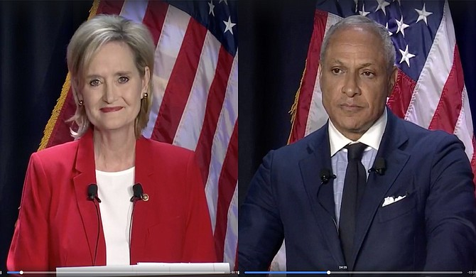 U.S. Sen. Cindy Hyde-Smith, right, leads Democratic challenger Mike Espy in a new survey, but does not draw majority support. Photo by Ashton Pittman.