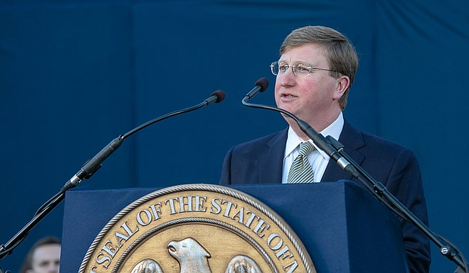 Gov. Tate Reeves promised to be a beacon of optimism for all Mississippi, but his speech addressed some of the state's most dire challenges. Photo by Candace Harris