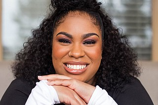 "Mississippi native Angie Thomas, author of ""The Hate U Give"" and ""On the Come Up,"" recently partnered with her alma mater, Belhaven University, to launch the Angie Thomas Writers Scholarship program. Photo by Imani Khayyam"