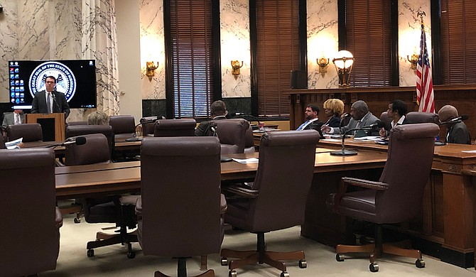 James Robertson of Empower Mississippi presented several policy recommendations to the Mississippi Senate Labor Committee during its Jan. 11 hearing on initiatives to support formerly incarcerated people seeking employment. Photo by Seyma Bayram