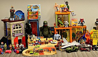 Vendors sell assortments of vintage and modern toys at the first ever Mississippi ToyCon on Saturday, Feb. 22. Photo courtesy Jay Sarrett
