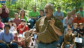 Snake expert Terry Vandeventer will host live reptile shows again at this year's NatureFEST. Photo courtesy Mississippi Museum of Natural Science