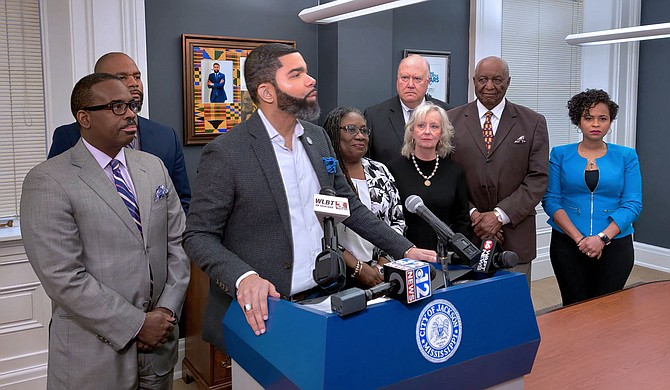 The City of Jackson has reached a $89.8 million settlement with Siemens, Inc., Mayor Chokwe A. Lumumba announced during a press conference on Feb. 19, 2020. Photo by Nick Judin