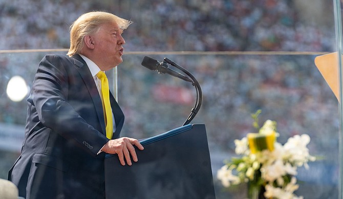 """Dr. Emmitt Y. Riley writes that Donald Trump represents a """"White Messiah"""" and a defender of what his supporters perceive as the last of a dying breed that has come under threat from a changing world. Official White House Photo by Shealah Craighead"""