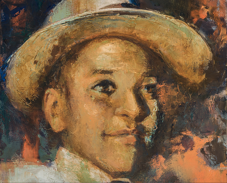 Emmett Till, who was black, was brutally tortured and killed in 1955 after a white woman accused him of grabbing her and whistling at her in a Mississippi grocery store. The killing shocked the country and stoked the civil rights movement. Painting by Bonnie Mettler